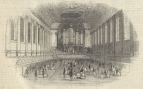 The interior of Birmingham Town Hall. ILN, 28 January 1843.