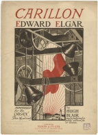 Elgar : Carillon. Organ transcription, with cover design by Darcy Braddell.  London, 1915.