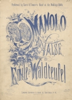 Manolo. Valse. London, [1876].