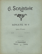 Sonate No.9 pour Piano, Op.68. Moscow & Leipzig, [1913].