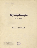 Symphonie en Ut majeur.  Full Score.  Paris, [c.1910].  The work was originally published only in piano arrangements (4 hands and 2 hands).