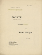 Sonate en mi bémol mineur. Nouvelle edition. Paris, 1906.  The work was first printed in 1900.