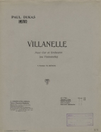 Villanelle. First edition of the cello arrangement.  Paris, 1909.  The work was first published in 1906.