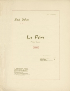 La Peri.  Poème dansé.  First edition of the 4-hands arrangement.  Paris, 1912.