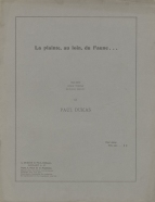 La Plainte, au loin, du Faune ....  First separate edition of the piano piece written for the 'Tombeau de Claude Debussy', a supplement to the Revue Musicale.  Paris, December 1920.