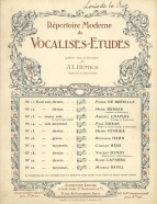 A. L. Hettich : Répertoire moderne de Vocalises-Études ... 2e. Volume. Paris, [1909]. The collecton contains the first edition of Dukas's Vocalise-Étude ('Alla Gitana'), later published in various instrumental transcriptions.