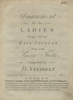 Amusement for the Ladies. London, [1796].