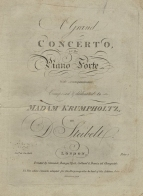 A Grand Concerto.  London, [c.1804].  Originally composed for the harp virtuoso Anne Marie Krumpholtz.