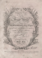 Le Jugement du Berger Paris. Piano score, signed by the composer. London, [1804].