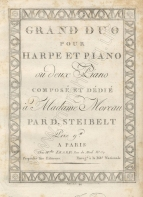 Grand Duo pour Harpe et Piano. Paris, [1801].