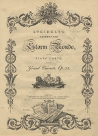 Celebrated Storm Rondo, Op.33. London, [c.1830].  A later edition of the Rondo Finale.