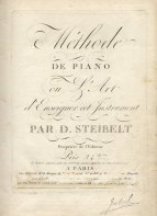 Méthode de Piano. Paris, [1805].