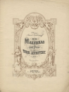 Deux Mazurkas, Op.24. Leipzig, [1884]. A reprint of the work first published in 1861.
