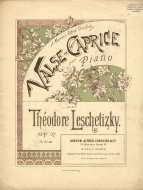 Valse-Caprice, Op.37. London, nd.  A reprint of the work first published in Hamburg in 1887.