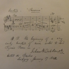 Incipit of the overture Parisina, composed while a student at the RAM in March 1835, and written as an album leaf during Bennett's third visit to Leipzig, 1841-2.