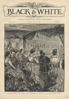 Visit of the Emperor of Germany to Covent Garden, 8 July 1891. The gala programme included Act I of Lohengrin, Act IV Roméo et Juliette and Act IV of Les Huguenots.  Cover illustration from Black & White, 18 July 1891.
