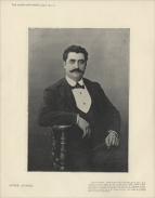 Albert Alvarez (1860-1933) was born in Bordeaux.  He made his début at Covent Garden in 1893 as Don José to Calvé's Carmen and sang Faust, Romeo, and Dominique in L'Attaque du Moulin and Sgt. Araguil in the world première La Navarraise.