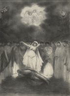 Page from The Illustrated London News, 30 October 1897, showing the final scene of the opera.