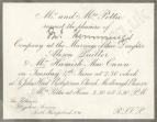 Invitation to the wedding of Alison Pettie and Hamish MacCunn on 4 June 1889.