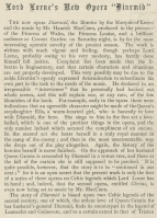 "An account of the the New Opera ""Diarmid"" in The Graphic, 30 October 1897."