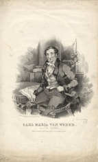 Weber.  Lithograph, 'drawn & engraved from life'.  John William Gear, [1826].