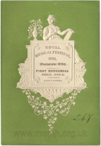 Royal Musical Festival.  Embossed Ticket to the First Rehearsal, 20 June 1834.