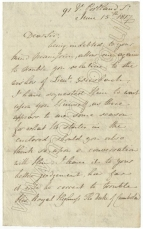 Autograph letter dated 15 June 1817 from Sir George Smart to Major Jones (Aide-de-Campe of the Duke of Cambridge).