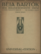 First edition of the piano score. Vienna, 1921.