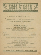 Programme for a performance by the Ballets Russes at the Théâtre du Chatelet, Paris, 5 February 1920.