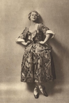 Tamara Karsavina as Mariuccia. From the programme of the 1919-20 Season of the Ballets Russes.