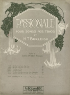 Passionale. Four songs for tenor. New York, 1915.