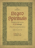 The Celebrated Negro Spirituals, arranged for Solo Voice by H. T. Burleigh.  Album No.1. London, [1930].