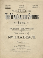 The Year's at the Spring. Song, Op.44, No.1.  (New Edition, 1904). London, [1904].