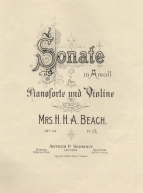 Sonate in A moll für Pianoforte und Violine, Op.34. Boston, 1899.