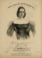 Persiani as Lucia on the title page of an English edition of an extract from the opera, London, [c.1839]. © Trustees of the British Museum.