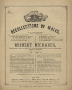 Recollections of Wales (Welsh Airs, arranged for the pianoforte). London, [1851].