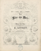 Drei Lieder ohne Worte, Op.51. Brunswick, [c.1848].  Litolff married the dedicatee in 1851.