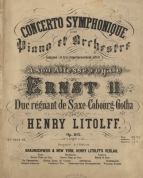 Concerto Symphonique [No.4], Op.102. Brunswick, [1856].