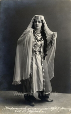 Margarita Georgievna Gukova (1884–1965), soprano, in the role of Fatima in The Prisoner of the Caucasus.