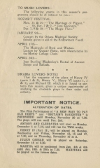 Advance notice of performances and lectures on the programme for La Traviata, 9 & 11 November 1922.  Gustav Holst was Director of Music of Morley College from 1907 to 1924.
