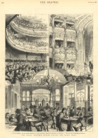 Engraving of The Royal Victoria Coffee Palace and Music Hall from The Graphic, 20 August 1881.