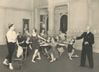 Nicholas Legat (1869-1937) teaching in his London studio at Colet Gardens.