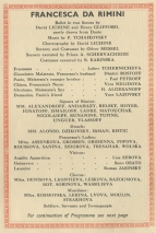 Programme for Francesca da Rimini,  8 July 1839.
