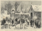 Lamartine's funeral in the Cemetery in Saint-Point.
