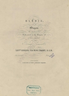 Grant (Lt. General Sir James Hope): Elégie for the Organ ... Dedicated to the memory of His Royal Highness the late Prince Consort. London, reissue after an earlier edition.