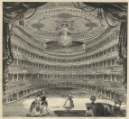 Her Majesty's Theatre after the complete renovation and redecoration of the interior before the opening of the season for 1846. The Pictorial Times, 3 April 1847.