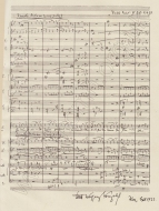 Autograph manuscript page from the score. From Rudolf Stefan Hoffann's biography of Korngold, published by Stephenson-verlag, Vienna, 1923. The Brendan G Carroll Collection.