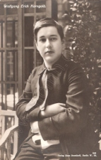 Erich Wolfgang Korngold, photographed in Hamburg, March 1910. The Brendan G Carroll Collection