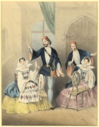 As Lionello in Flotow's Marta, with Angelina Bosio, Francesco Graziani and Constance Nantier-Didiée, Covent Garden, 1858. Lithograph by John Brandard.