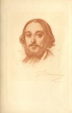 Photogravure by Sir Emery Walker after a drawing by Frederick, Lord Leighton, 1857.